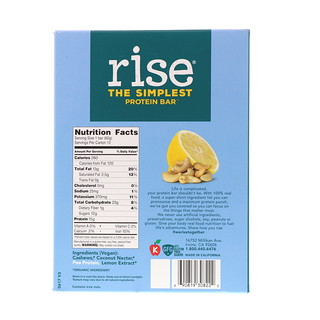 Rise Bar, The Simplest Protein Bar, Lemon Cashew, 12 Bars, 2.1 oz (60 g) Each