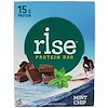 Rise Bar, Rise Protein Bar, Mint Chip, 12 Bars, 2.1 oz (60 g) Each