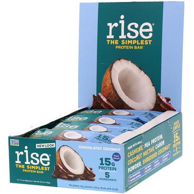 Протеиновый батончик, шоколад и кокос, 12 батончиков, 2,1 унц. (60 г) каждый matti батончик мюсли кокос и молочный шоколад 6 шт по 24 г