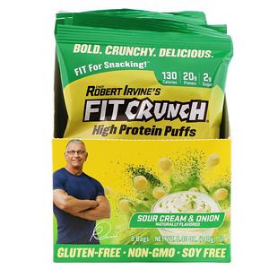 FITCRUNCH, High Protein Puffs, Sour Cream & Onion, 8 Bags, 1.05 oz (30 g) Each отзывы