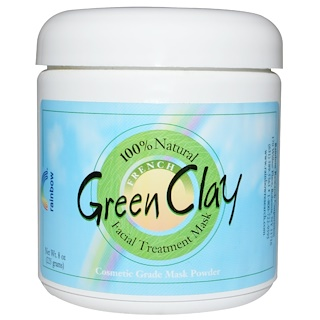 Rainbow Research, Green Clay, Máscara de tratamento facial, 225 g