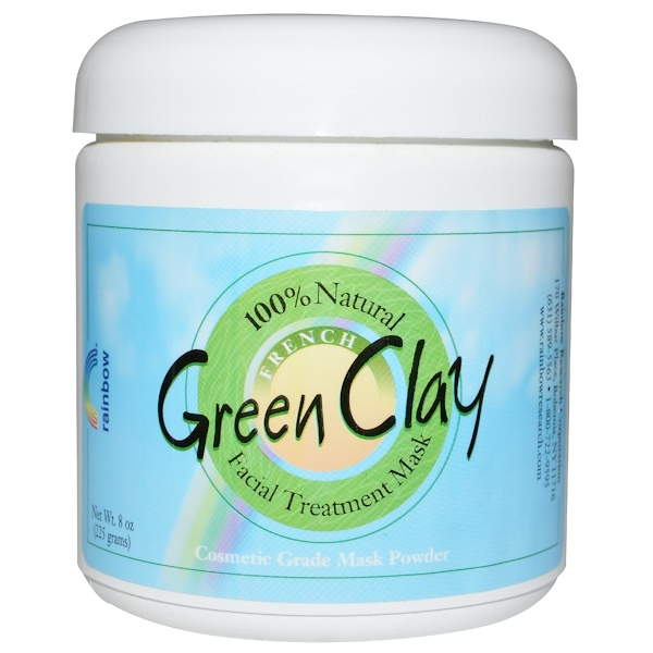 French Green Clay, Facial Treatment Mask Powder, 8 oz (225 g)