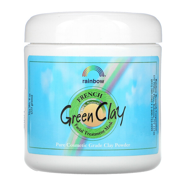 Rainbow Research, French Green Clay, Beauty Facial Treatment Mask, 8 oz (225 g)
