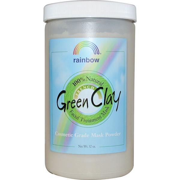 Rainbow Research, Французская зеленая глина в порошке, маска для лица, 32 унции (Discontinued Item)