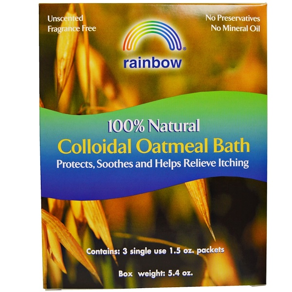 Rainbow Research, 100% Natural Colloidal Oatmeal Bath, 3 Packets, 1.5 oz Each (Discontinued Item)