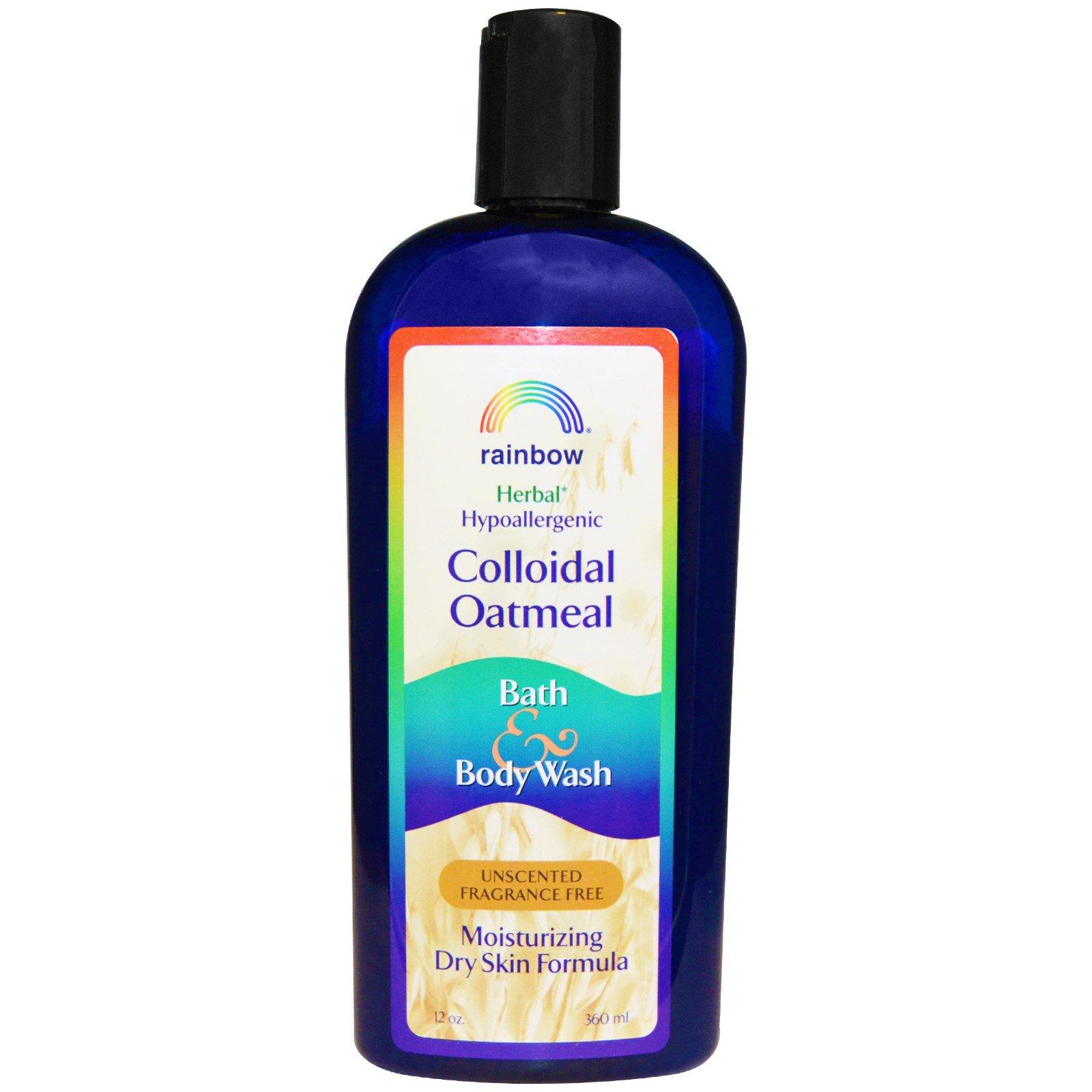 Rainbow Research, Коллоидная овсяная ванна и средство для мытья тела, без запаха и аромата, 12 унций (360 мл)