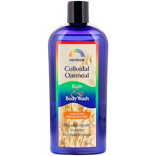 Rainbow Research, Colloidal Oatmeal, Bath & Body Wash, Unscented Fragrance Free, 12 oz (360 ml)