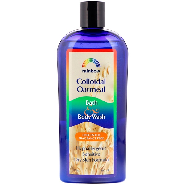 Rainbow Research, Colloidal Oatmeal, Bath & Body Wash, Unscented Fragrance Free, 12 oz (360 ml) (Discontinued Item)