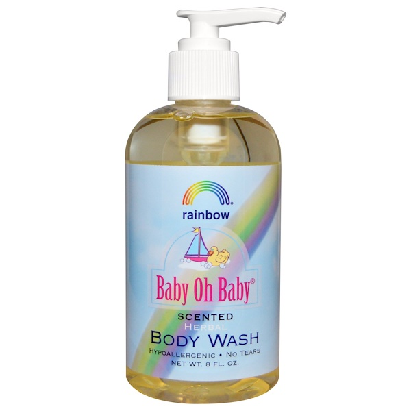 Rainbow Research, Baby Oh Baby, Herbal Body Wash, Scented, 8 fl oz (Discontinued Item)
