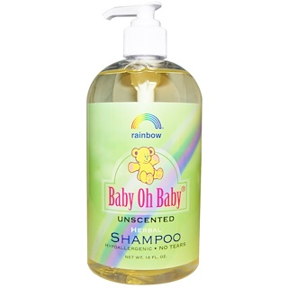 Rainbow Research, Baby Oh Baby, Herbal Shampoo, Unscented, 16 fl oz