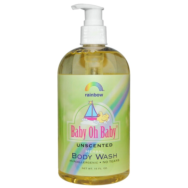 Rainbow Research, Baby Oh Baby, Herbal Body Wash, Unscented, 16 fl oz (Discontinued Item)