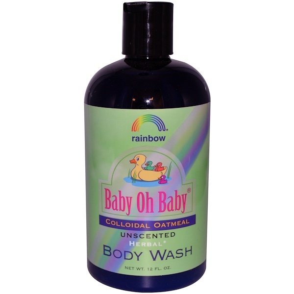 Rainbow Research, Baby Oh Baby, Body Wash, Colloidal Oatmeal, Unscented, 12 fl oz (Discontinued Item)