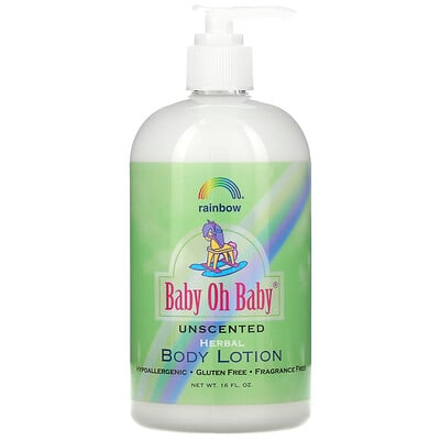 Rainbow Research Baby Oh Baby, Herbal Body Lotion, Unscented, 16 fl oz