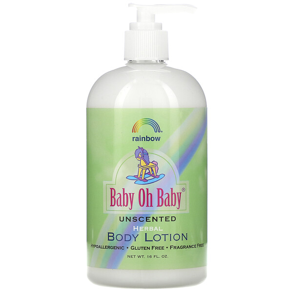 Baby Oh Baby, Herbal Body Lotion, Unscented, 16 fl oz
