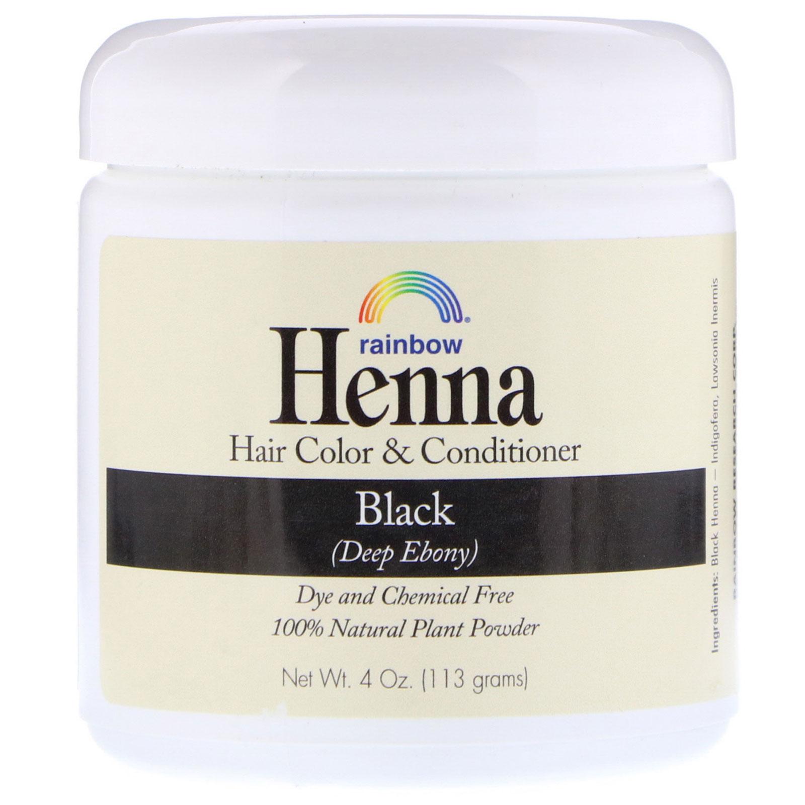 Rainbow Research, Henna, Hair Color & Conditioner, Black, 4 oz (113 ...