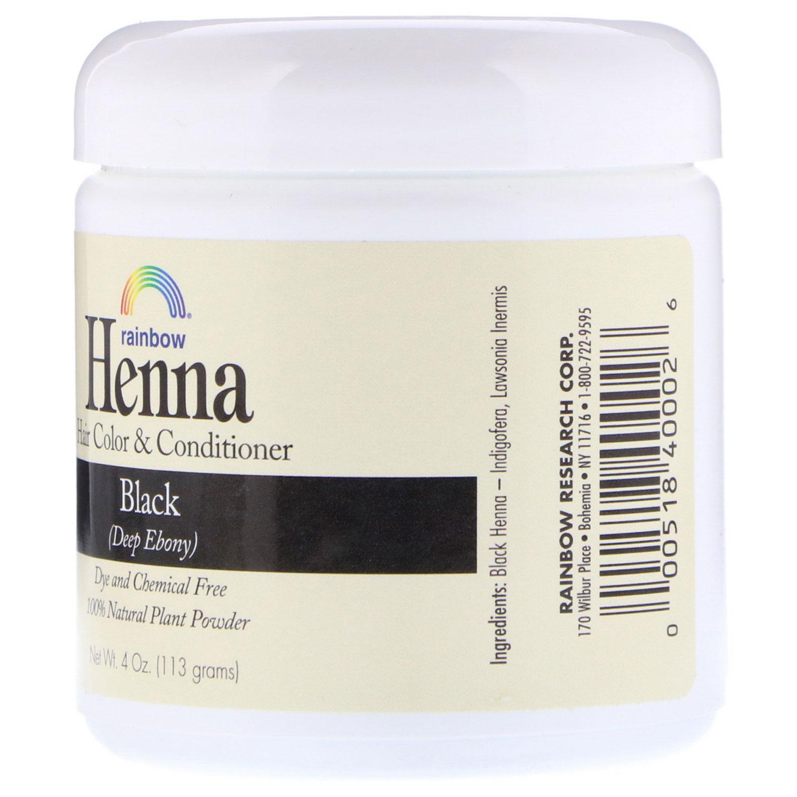 Rainbow Research Henna Hair Color Conditioner Black 4 Oz 113