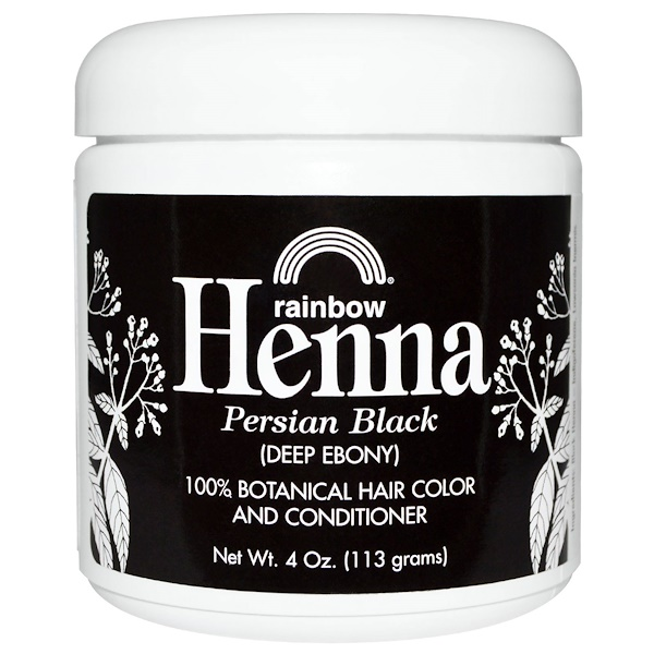 Rainbow Research, Henna, Hair Color & Conditioner, Black (Deep Ebony), 4 oz (113 g)