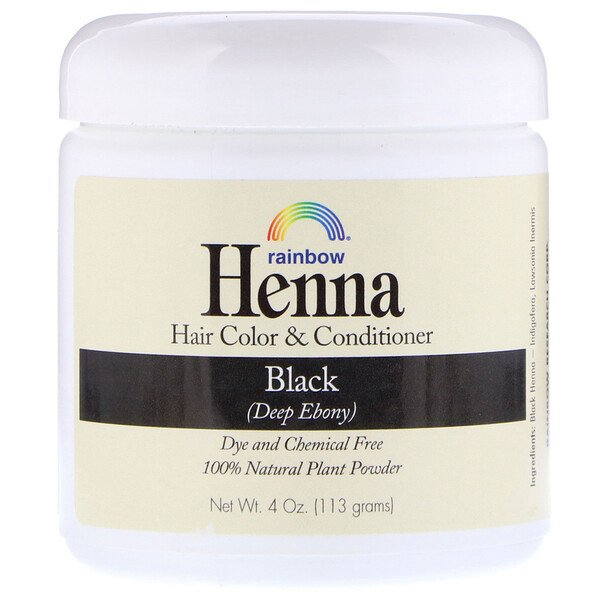 Rainbow Research, Henna, Hair Color & Conditioner, Black, 4 oz (113 g)