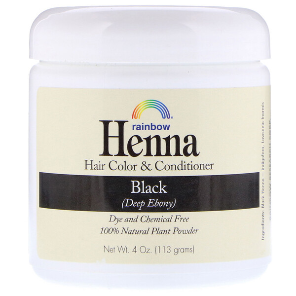Henna, Hair Color & Conditioner, Black, 4 oz (113 g)