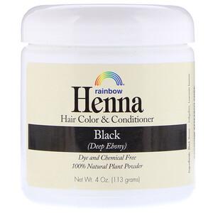 Рэйнбоу Ресерч, Henna, Hair Color & Conditioner, Black, 4 oz (113 g) отзывы покупателей
