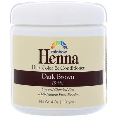 Хна, краска и кондиционер для волос, темный коричневый (соболь), 113г краска для волос хна купить