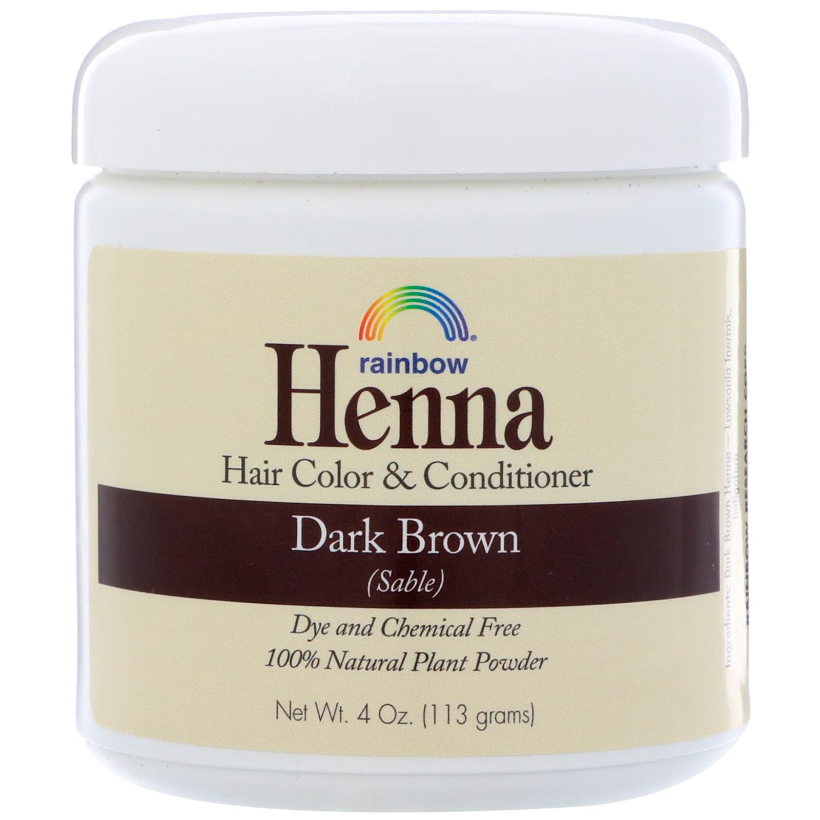 Rainbow Research Henna Hair Color Conditioner Dark Brown Sable