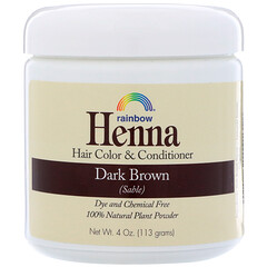 Rainbow Research, Henna, Hair Color & Conditioner, Dark Brown (Sable), 4 oz (113 g)