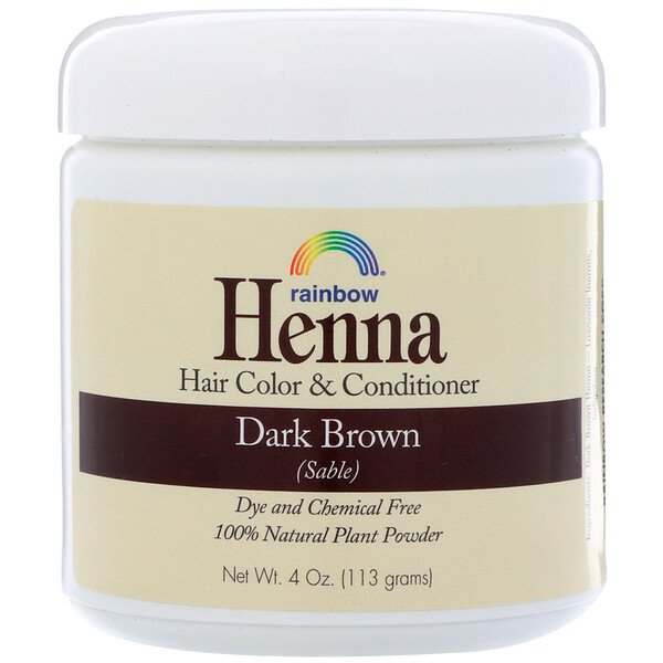 Henna, Hair Color & Conditioner, Dark Brown (Sable), 4 oz (113 g)