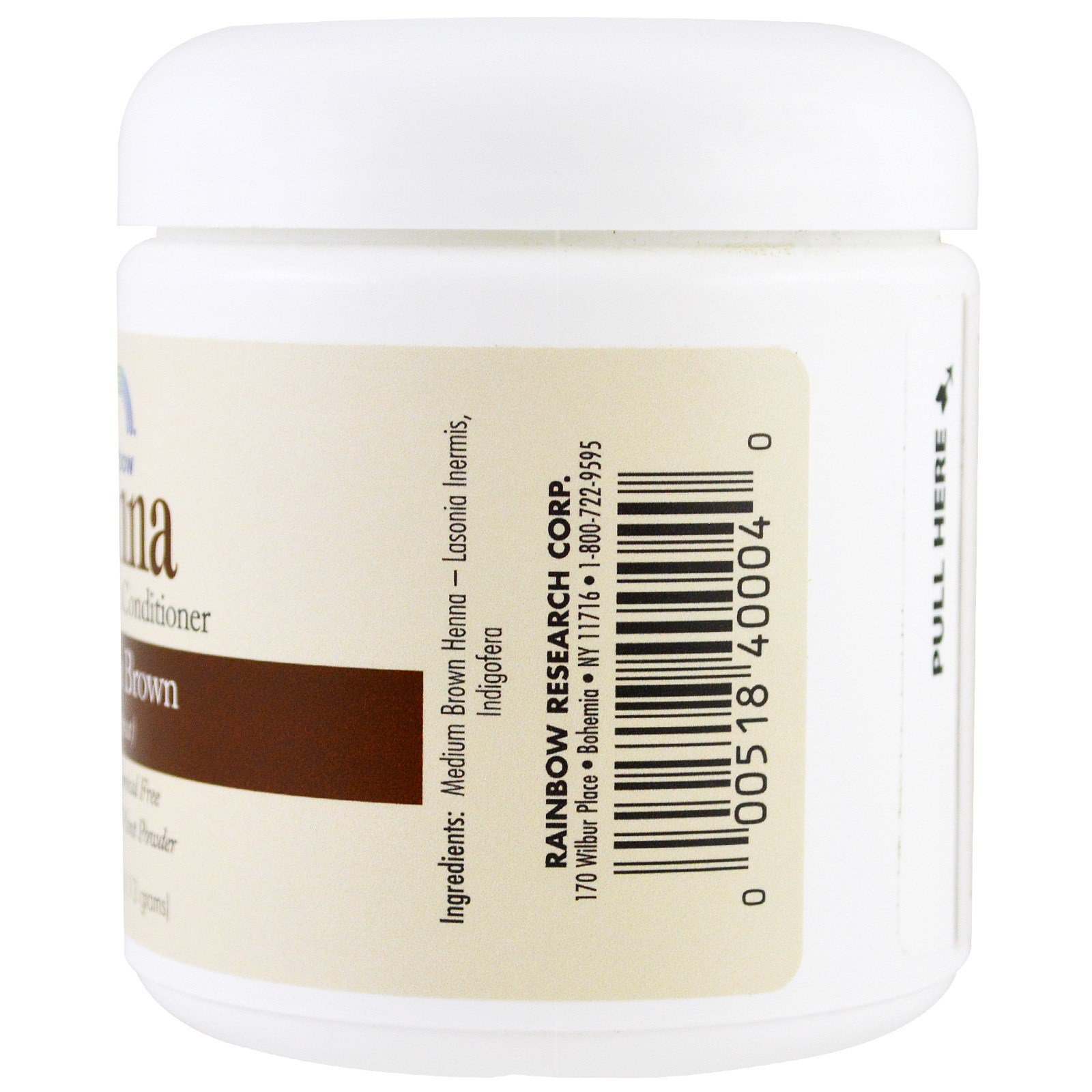 Rainbow Research Henna Hair Color And Conditioner Medium Brown