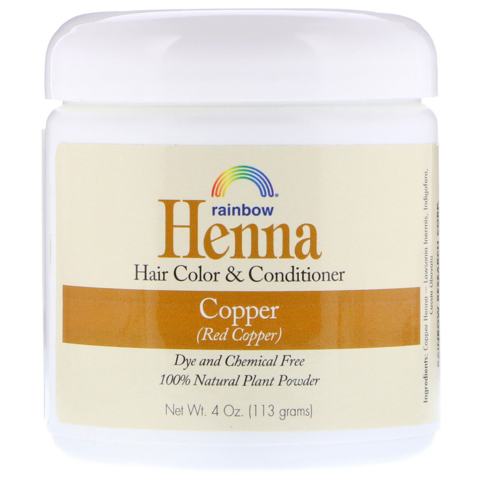 Rainbow Research Henna Hair Color And Conditioner Copper Red