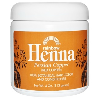 Rainbow Research, Henna, Hair Color and Conditioner, Copper (Red Copper), 4 oz (113 g)