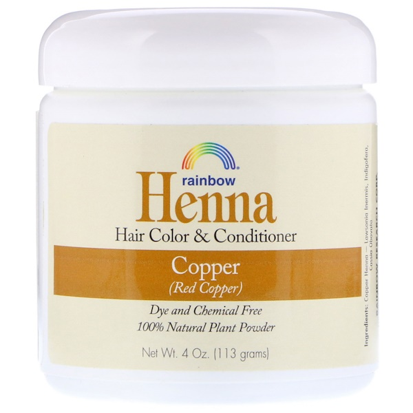 Rainbow Research, Henna, Hair Color and Conditioner, Copper (Red Copper), 4 oz (113 g) (Discontinued Item)