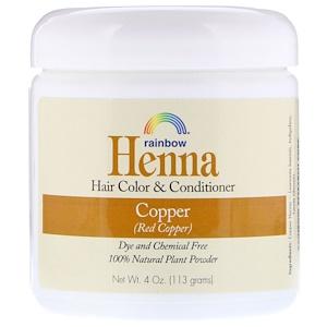 Рэйнбоу Ресерч, Henna, Hair Color and Conditioner, Copper (Red Copper), 4 oz (113 g) отзывы покупателей