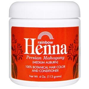 Рэйнбоу Ресерч, Henna, Hair Color and Conditioner, Mahogany (Medium Auburn), 4 oz (113 g) отзывы покупателей