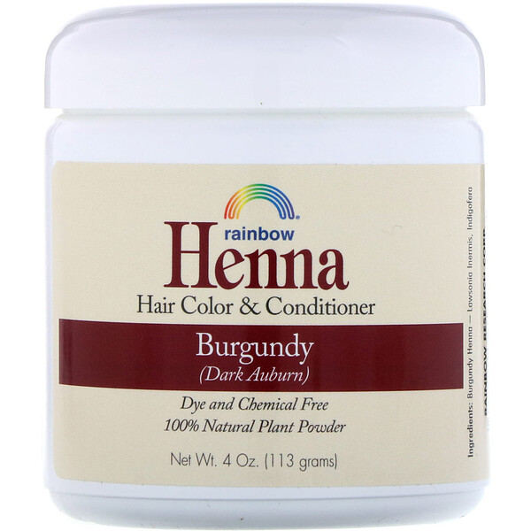 Henna, Hair Color and Conditioner, Burgundy (Dark Auburn), 4 oz (113 g)