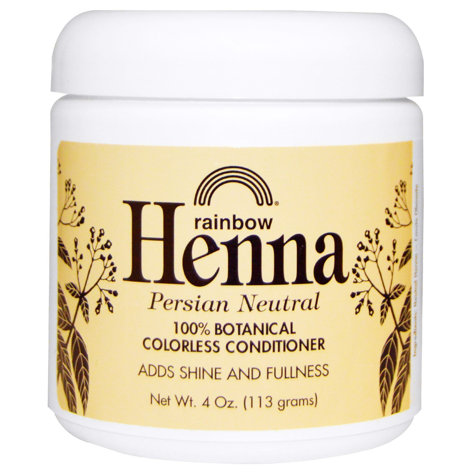 Rainbow Research Henna Colorless Conditioner Neutral 4 Oz 113 G