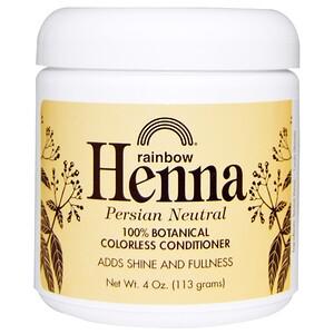 Рэйнбоу Ресерч, Henna, Colorless Conditioner, Neutral, 4 oz (113 g) отзывы покупателей