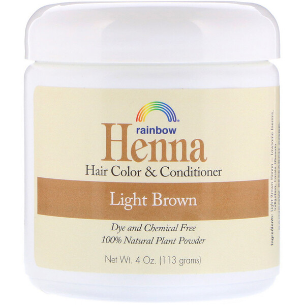 Rainbow Research, Henna, Hair Color and Conditioner, Light Brown, 4 oz (113 g)