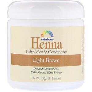 Рэйнбоу Ресерч, Henna, Hair Color and Conditioner, Light Brown, 4 oz (113 g) отзывы покупателей