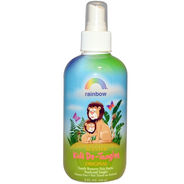 Rainbow Research, , Kid's De-Tanglerالأصلى  ٨ أونصه  (٢٤٠ملى) معطر من (Discontinued Item)