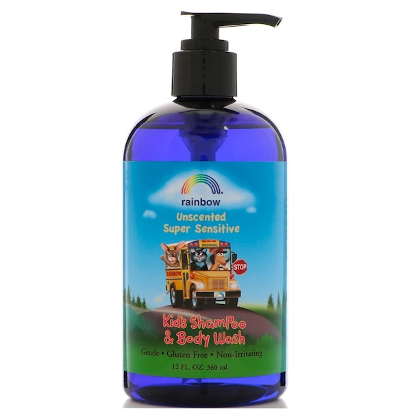 Rainbow Research, Kid's Shampoo & Body Wash, Unscented, 12 fl oz (360 ml)