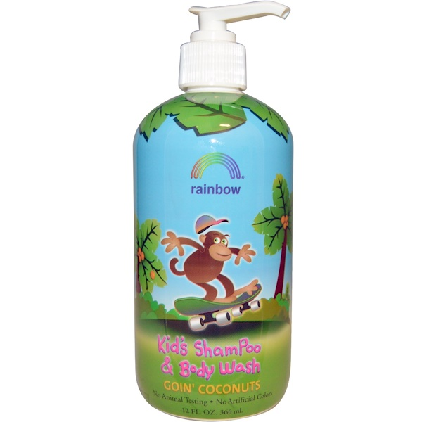 Rainbow Research, Kid's Shampoo and Body Wash, Goin' Coconuts, 12 fl oz (360 ml)