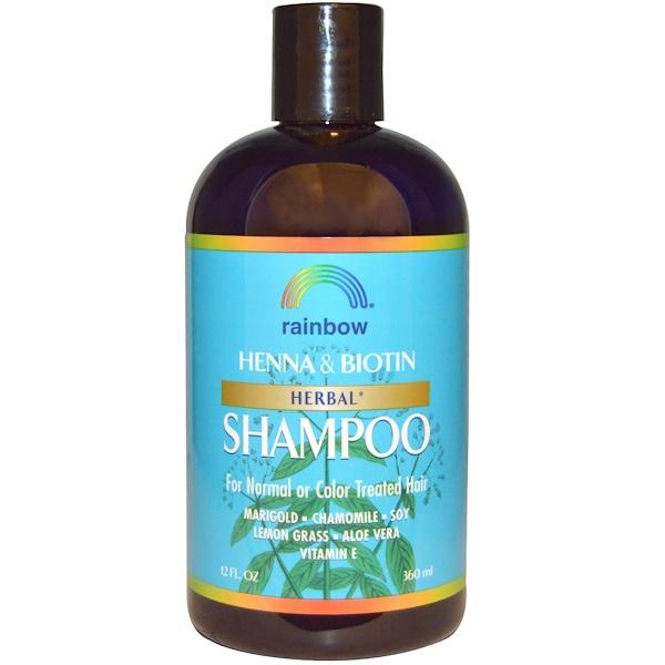 Rainbow Research, Henna & Biotin Herbal Shampoo, 12 fl oz (360 ml)