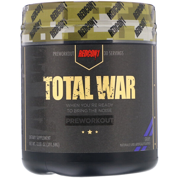 Total War, Preworkout, Grape, 13.81 oz (391.59 g)