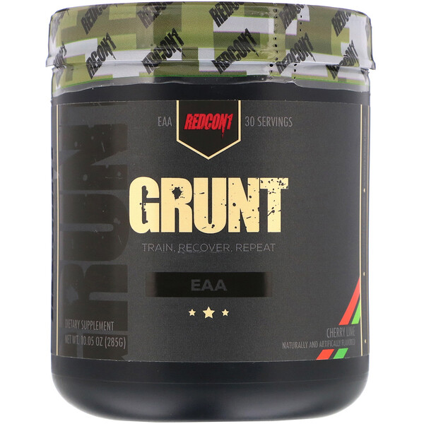 Redcon1, Grunt, EAA, Cherry Lime, 10.05 oz (285 g) (Discontinued Item)