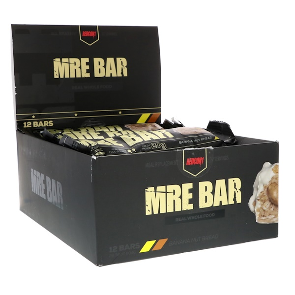 Redcon1, MRE Bar, Banana Nut Bread, 12 Bars, 2、36 oz (67 g) Each