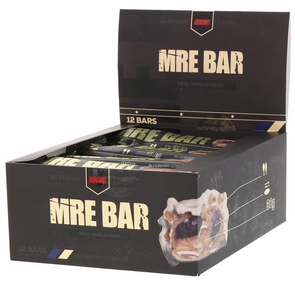 Redcon1, MRE Bar, Blueberry Cobbler, 12 Bars, 2.36 oz (67 g) Each