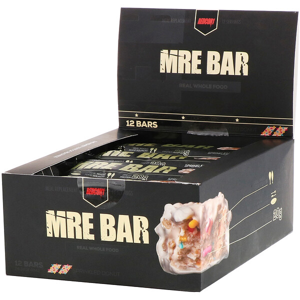 Redcon1, MRE Bar, Sprinkled Donut, 12 Bars, 2.36 oz (67 g) Each (Discontinued Item)
