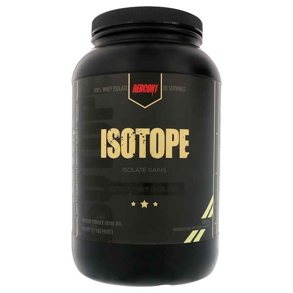 Redcon1, Isotope, 100% Whey Isolate, Vanilla, 2.1 lbs (960 g) (Discontinued Item)