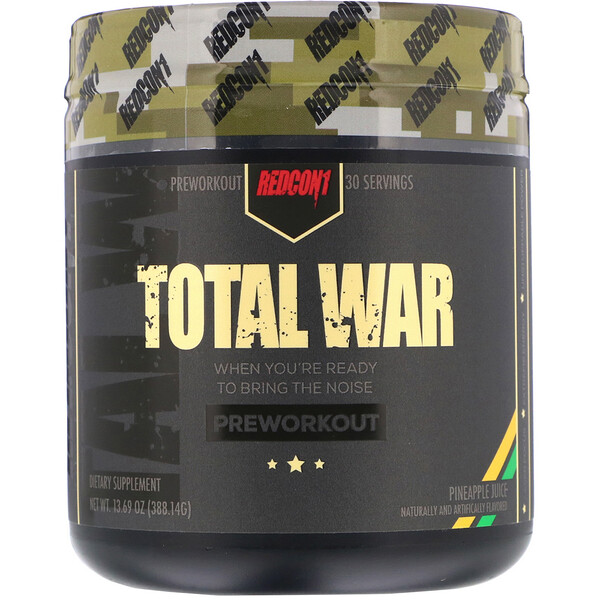 Redcon1, Total War, Preworkout, Pineapple Juice, 13.69 oz (388.14 g)